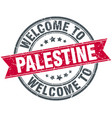 welcome to palestine red round vintage stamp vector image vector image