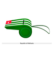 White and Green Stripe on Abkhazia Whistle vector image vector image