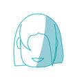 woman faceless cartoon vector image vector image
