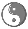 yin yang symbol taoism icon cartoon style vector image