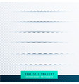 zigzag paper shadows effect collection on vector image vector image