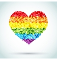 Rainbow Button Heart LGBT Background vector image
