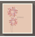 Poster with abstract pastel-colored flower vector image