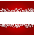 Red Christmas background with paper snowflakes vector image