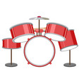 a set of of drum on white background vector image vector image
