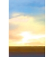 Abstract sunrise background vector image