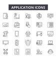 applications line icons for web and mobile design vector image vector image