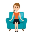 avatar woman sitting on couch vector image