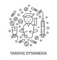 banners for tardive dyskintsia vector image vector image