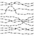 barbed wire hand drawn seamless pattern vector image vector image
