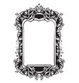 baroque mirror sophisticated frame french vector image vector image