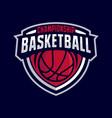 basketball badge logo vector image