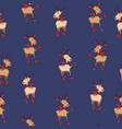 beautiful christmas seamless pattern with cute vector image vector image