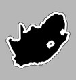 black silhouette of the country south africa with vector image vector image