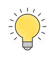 bulb idea on vector image