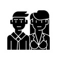 businessman businesswoman - managers icon vector image