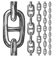 chain and links seamless pattern in different vector image vector image