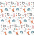 childish seamless pattern with cute bears vector image vector image