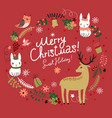 christmas card with animals