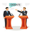 debate poster with two politicians on vector image vector image