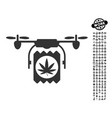 drugs drone delivery icon with job bonus vector image vector image
