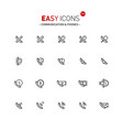 easy icons 31a phones vector image vector image