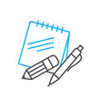 educational supplies thin line stroke icon vector image