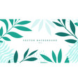 exotic background with flat green turquoise twigs vector image