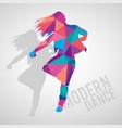expressive girl dancing modern dance vector image vector image