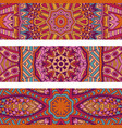 festive colorful ethnic abstract banner set vector image vector image