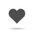 Flat design heart icon placed on white background vector image
