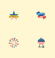 flat icons ribbon barbecue firecracker and other vector image