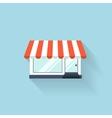 Flat web icon Internet shop vector image