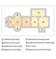 floor plan a roman bath thermae vector image