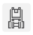 forklift box icon vector image