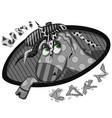 funny cartoon black and white unicorn vector image vector image