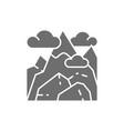 georgian mountains kazbek mountain grey vector image
