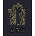 Gold Christmas and new year ornamental gift design vector image vector image