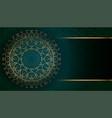 golden arabesque arabis style islamic pattern vector image
