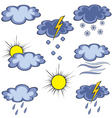 graffito weather icon vector image