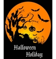 Halloween holiday poster vector image
