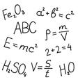 Hand drawn formulas set vector image