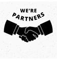 Handshaking business vector image vector image