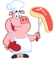 Happy Pig Chef vector image vector image