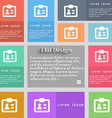 ID Identity card icon sign Set of multicolored vector image