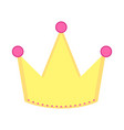 isolated golden crown icon vector image