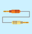 jack cable plug graphic vector image