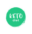 keto icon badge logo ketogenic diet stamp vector image vector image