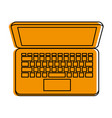 laptop computer topview icon image vector image vector image