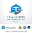 law office logo template vector image